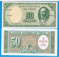 CHILE - 5 Centesimos En 50 Pesos ND SC  P-126 - Chile