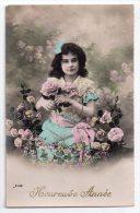 Jolie Fillette Et Roses, Heureuse Année, éd. J. C. N° 2381 - Portraits