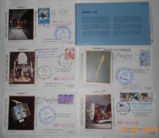 Vol Ariane L5 5 Enveloppes,1 Carte, Pochette CNES Incident Fonctionnement - Europa