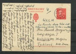 Sweden 1948 Postal Stationary Card To Tyskland - Suède