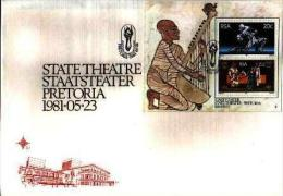 REPUBLIC OF SOUTH AFRICA, 1981, State Theatre, First Day Cover Nr S7, Block 9 - South Africa (1961-...)