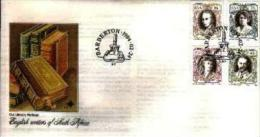 REPUBLIC OF SOUTH AFRICA, 1984, Writers, First Day Cover 4.7 - South Africa (1961-...)