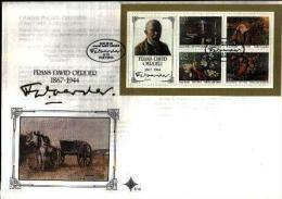 REPUBLIC OF SOUTH AFRICA, 1985, Paintings Frans Oerder, First Day Cover S13 (block 15) - South Africa (1961-...)