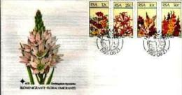 REPUBLIC OF SOUTH AFRICA, 1985, Flowers, First Day Cover 4.13 - South Africa (1961-...)