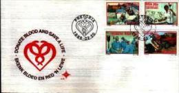 REPUBLIC OF SOUTH AFRICA, 1986, Giving Blood, First Day Cover 4.15 - South Africa (1961-...)
