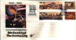 REPUBLIC OF SOUTH AFRICA, 1986, Johannesburg Centenary, First Day Cover 4.18 - South Africa (1961-...)