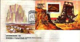 REPUBLIC OF SOUTH AFRICA, 1986, Johannesburg Centenary, First Day Cover 4.18ms  Block - South Africa (1961-...)
