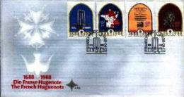 REPUBLIC OF SOUTH AFRICA, 1988, Hugenotes,  First Day Cover 4.25 - South Africa (1961-...)