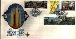 REPUBLIC OF SOUTH AFRICA, 1988, Great Trek,  First Day Cover 5.2 - South Africa (1961-...)