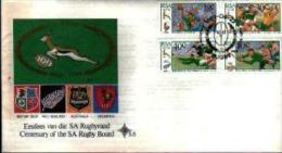 REPUBLIC OF SOUTH AFRICA, 1989, Rugby,   First Day Cover 5.5 - South Africa (1961-...)