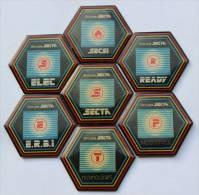 Lot De 7 Pin´s  SECTA - SECSI - ERBI - ELEC -READY - C752 - Badges