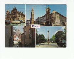 Portugal Cor 24624 - PORTO - IGREJAS - OLD CARS AUTOMOBILES VOITURES TOYOTA CELICA OPEL KADETT TRAM TRAMWAY - CLÉRIGOS - Porto