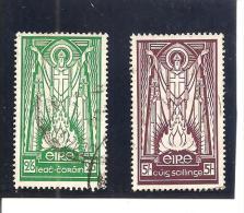 Irlanda-Eire Yvert Nº 90-91 (usado) (o) - 1937-1949 Éire