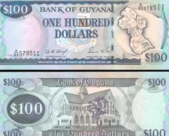 Guyana #31-12, 100 Dollars, ND (1999), UNC / NEUF - Guyana