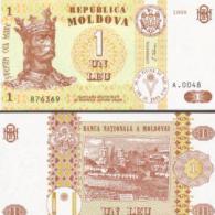 Moldova # 8-1999, 1 Leu, 1999, UNC / NEUF - Moldawien (Moldau)