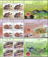 2006 HEADER 4 Sets Semi Aquatic Amphibian Sea Shell Turtle Malaysia Stamp MNH - Malaysia (1964-...)
