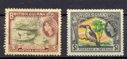 Naa1039 FAUNA VOGELS JACANA TOUCAN BIRDS VÖGEL AVES OISEAUX GUYANA BRITISH GUIANA 1988 ONG/MH + Gebr/used - Birds