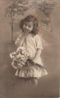 Geburtstagskarte Kleines Mädchen Mit Blumenstrauß Gelaufen  23.1.13 - Geburtstag