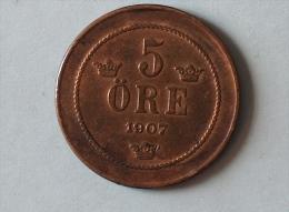 Suéde 5 Ore 1907 - Suède