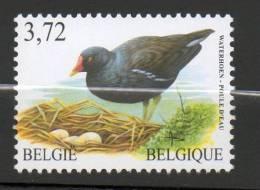 COB 3212 Neuf SANS Charnière Buzin Poule D´eau Waterhoen - 1985-.. Vögel (Buzin)