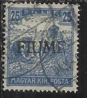 FIUME 1916 - 1917 MIETITORI E VEDUTA 25 F TIMBRATO USED - 8. Occupazione 1a Guerra
