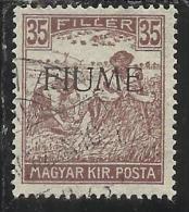 FIUME 1916 - 1917 MIETITORI E VEDUTA 35 F TIMBRATO USED - Fiume