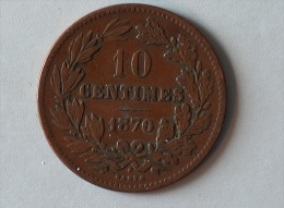 Luxembourg 10 Centimes 1870 - Luxembourg