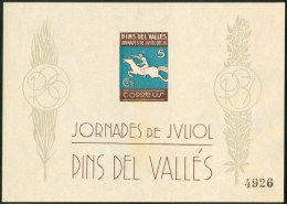 "1937 Pins Del Vallès ""Spagna Guerra Civile"" Cavalli Horses Chevaux -Gr - Emissioni Nazionaliste"