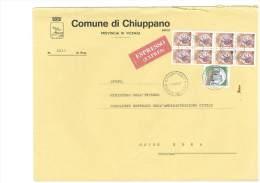 CHIUPPANO - 36010 - PROV. VICENZA  - EXP  -  TEMA TOPIC COMUNI D´ITALIA - STORIA POSTALE - Affrancature Meccaniche Rosse (EMA)