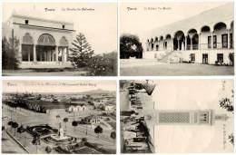 4 CPA : Tunisie, Tunis, Horiba, Palais Du Bardo, Quartier De La Marine, ... - Tunisie