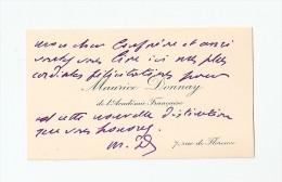 Maurice DONNAY, Acad Française, Carte Autographe à Edmond Perrier, Vers 1912 ; Ref  90 - Autographs