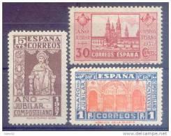 ES833-L3660TARO.España.Spain.Espagne.AÑO  JUBILAR COMPOSTELANO.1937.( Ed 833/5**)sin Charnela.LUJO - Otros