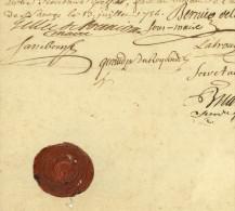 NANTES Sous Louis XV 1754 Médecins Exempts De Logements De Soldats Université Maire Gellée De Premion Bernier Etc. - Documenti Storici