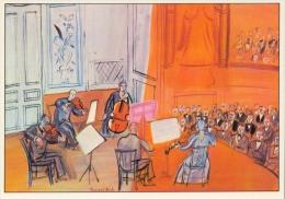 Raoul DUFY : ## Het Oranje Concert ## : Kunstkaart Met Beschrijving Op De Keerzijde. - Malerei & Gemälde