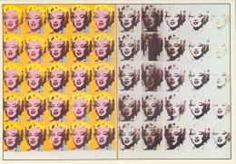 WARHOL : ## Marilyn Monroe ## : Kunstkaart Met Beschrijving Op De Keerzijde. - Malerei & Gemälde