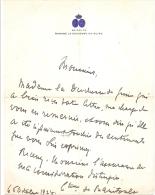 Duchesse De Guise, Comtesse Baritault, MANOIR D´ANJOU BRUXELLES ; Let Autographe 1925  Ref 307 VP20 - Autographes