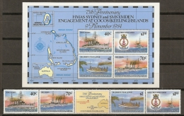 ISLAS COCOS 1989 - Yvert #210/13+H8 - MNH ** - Islas Cocos (Keeling)