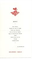 BRUXELLES, Dîner Chez DUC D´Orléans, Hôtel Métropole, Bruxelles, 1911 ; Ref 311 VP20 - Menus