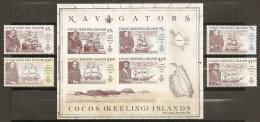 ISLAS COCOS 1990 - Yvert #218/21+H9 - MNH ** - Islas Cocos (Keeling)