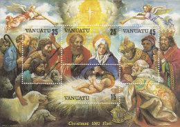 Vanuatu-1982 Christmas Souvenir Sheet 345a MNH - Vanuatu (1980-...)