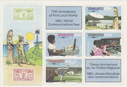 Vanuatu-1983 World Communication Year 363a MS MNH - Vanuatu (1980-...)