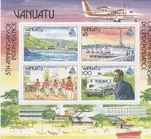 Vanuatu-1985 National Independence 5th Anniversary 400a MS  MNH - Vanuatu (1980-...)