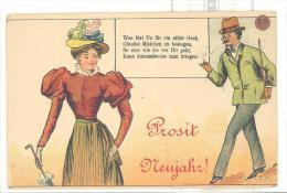 Prosit Neujahr Um 1895 - Humor
