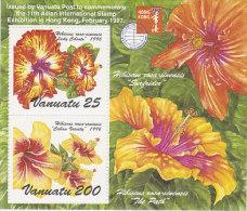 Vanuatu-1996 Hibiscus Souvenir Sheet  692a MS  MNH - Vanuatu (1980-...)