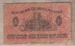 CHECOSLOVAQUIA - 1 Koruna 1919  P-6  Serie 160 - Checoslovaquia