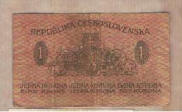 CHECOSLOVAQUIA - 1 Koruna 1919  P-6  Serie 242 - Checoslovaquia