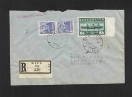 Österreich R-Brief 1937 Wien Nach Magdeburg - 1918-1945 1a Repubblica