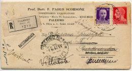 MISILMERI (PA) CASSA RURALE E ARTIGIANA MARIA SS, IMMACOLATA VARI ANNULLI 1942 - 1900-44 Vittorio Emanuele III