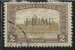 FIUME 1916 - 1917 MIETITORI E VEDUTA 2 K TIMBRATO USED - 8. Occupazione 1a Guerra