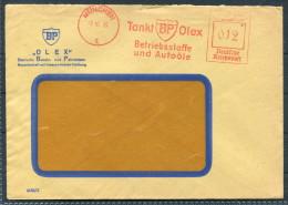 1940 Germany Munich BP Petrol Tankt Olex Advertising 12 Pfg Freistempel Cover - Cars